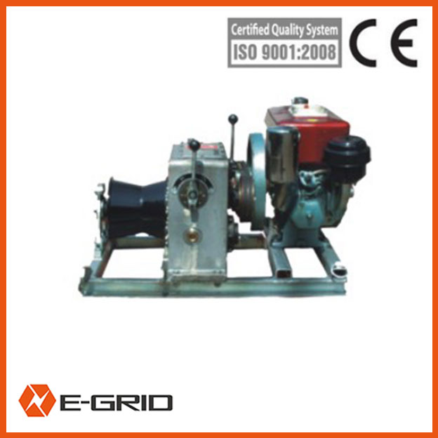 Diesel engine powered winch-09111