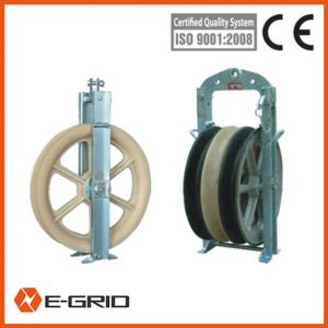 Overhead power line transmission conductor stringing block china