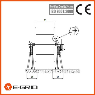 Hydraulic reel stand for max conductor drum weight 8T China