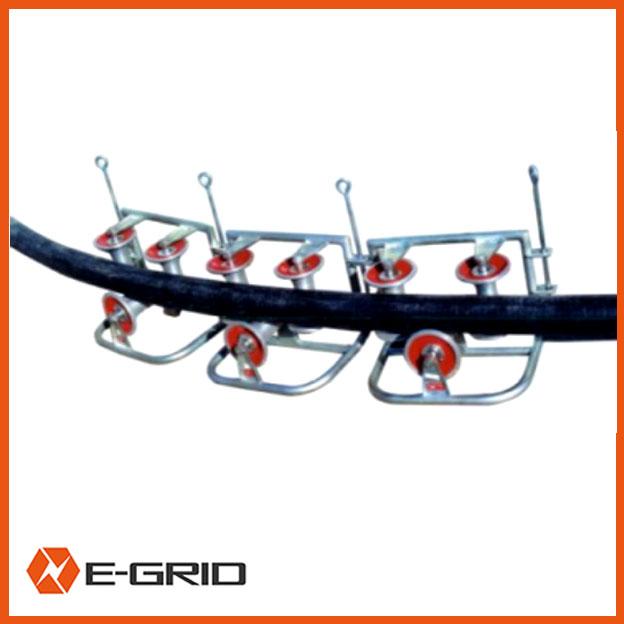 Corner ground roller assembly (tri-roller)