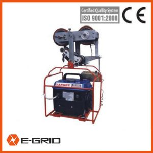 Self running traction machine for overhead conductor replacing and OPGW stringing