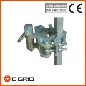 Support abutments for tower-mounted small gin poles